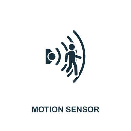 Icona del sensore di movimento. Elemento di design creativo dalla collezione di icone di casa intelligente. Pixel Perfect Motion Sensor icona per web design, app, software, utilizzo della stampa.
