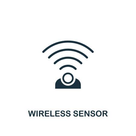 Icône de capteur sans fil. Conception d'éléments créatifs de la collection d'icônes de maison intelligente. Icône Pixel Perfect Wireless Sensor pour la conception Web, les applications, les logiciels, l'utilisation de l'impression.