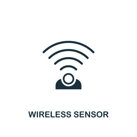Wireless Sensor icon. Creative element design from smart home icons collection. Pixel perfect Wireless Sensor icon for web design, apps, software, print usage.