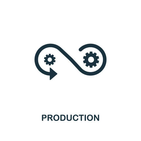 Production icon. Creative element design from community icons collection. Pixel perfect Production icon for web design, apps, software, print usage