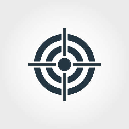 Icône cible. Conception premium monochome de la collection d'icônes d'entreprise. Icône de cible de pictogramme simple UX et UI.