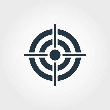 Icona di destinazione. Design premium monocromatico dalla collezione di icone di affari. Icona di destinazione pittogramma semplice UX e UI.