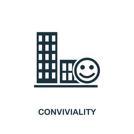 Conviviality icon. Premium style design from urbanism icon collection. UI and UX. Pixel perfect Conviviality icon for web design, apps, software, print usage.