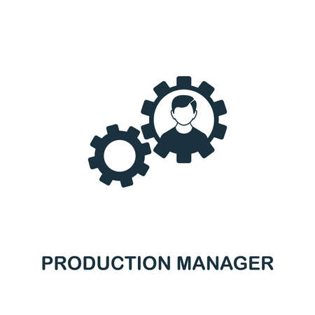 Production Manager icon. Premium style design from startup icon collection. UI and UX. Pixel perfect Production Manager icon for web design, apps, software, print usage. Banco de Imagens