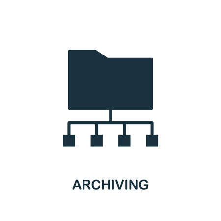 Archiving icon. Creative element design from icons collection. Pixel perfect Archiving icon for web design, apps, software, print usage.