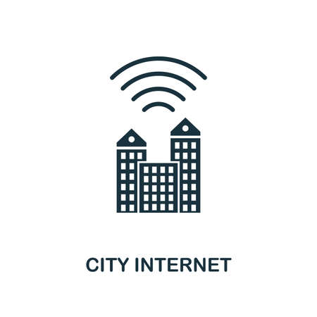City Internet icon. Creative element design from icons collection. Pixel perfect City Internet icon for web design, apps, software, print usage.