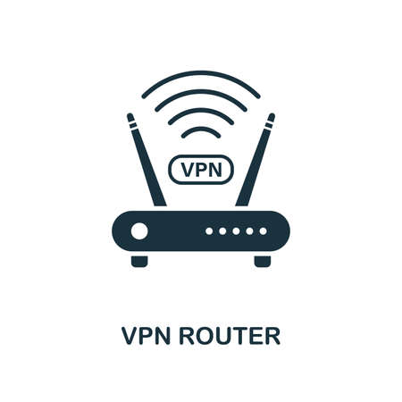 Vpn Router icon. Creative element design from icons collection. Pixel perfect Vpn Router icon for web design, apps, software, print usage. Illustration