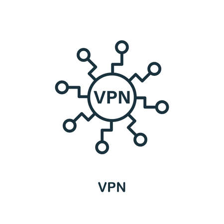 Vpn icon. Creative element design from icons collection. Pixel perfect Vpn icon for web design, apps, software, print usage.