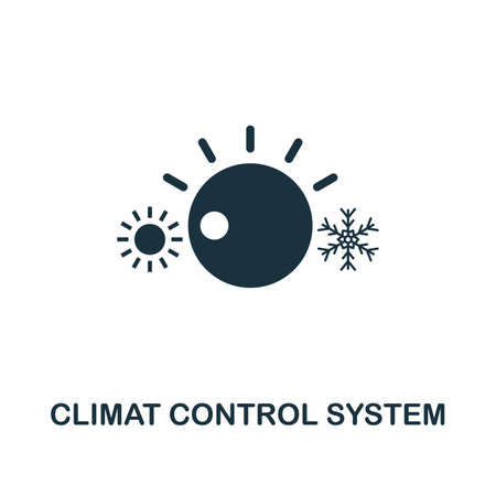 Climat Control System icon. Premium style design from urbanism collection. UX and UI. Pixel perfect climat control system icon for web design, apps, software, printing usage. Banque d'images - 122501098