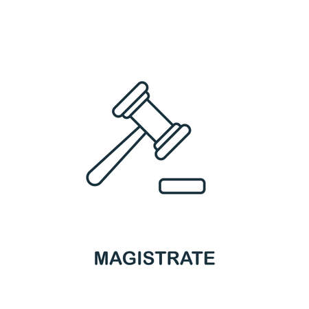 Magistrate icon. Outline style thin design from business icons collection. Pixel perfect simple pictogram magistrate icon for UX and UI