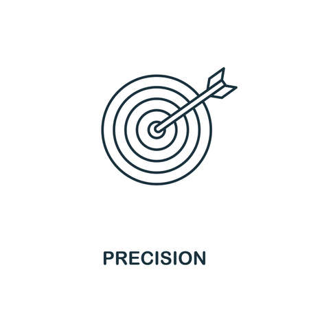 Precision icon. Outline style thin design from business icons collection. Pixel perfect simple pictogram precision icon for UX and UI