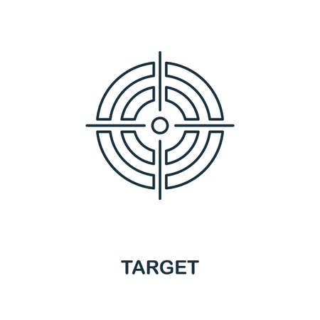 Target icon. Outline style thin design from business icons collection. Pixel perfect simple pictogram target icon for UX and UI Reklamní fotografie