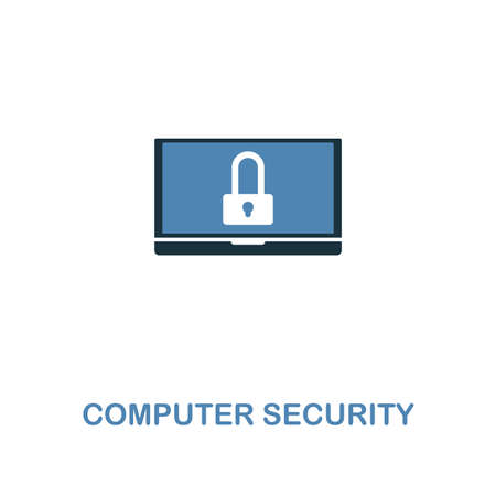 Computer Security creative icon in two colors. Premium style design from web development icons collection. Computer Security icon for web design, mobile apps and printing usage.