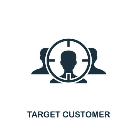 Target Customer icon. Creative element design from business strategy icons collection. Pixel perfect Target Customer icon for web design, apps, software, print usage. Фото со стока - 122501204