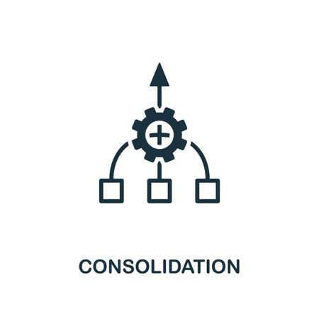 Consolidation icon. Creative element design from business strategy icons collection. Pixel perfect Consolidation icon for web design, apps, software, print usage.