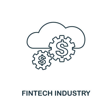 Fintech Industry icon outline style. Thin line design from fintech icons collection. Pixel perfect fintech industry icon for web design, apps, software, print usage. Vecteurs