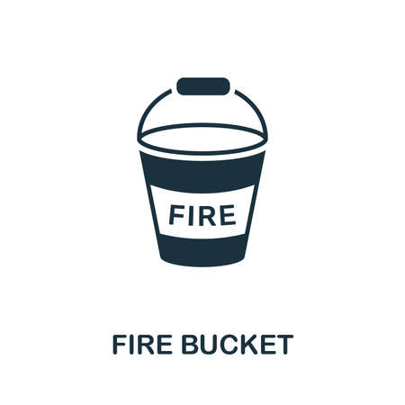 Fire Bucket icon. Creative element design from fire safety icons collection. Pixel perfect Fire Bucket icon for web design, apps, software, print usage. Vektorové ilustrace