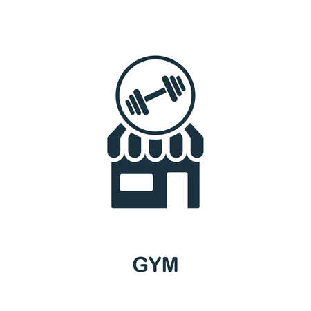 Gym icon. Creative element design from icons collection. Pixel perfect Gym icon for web design, apps, software, print usage. Illustration