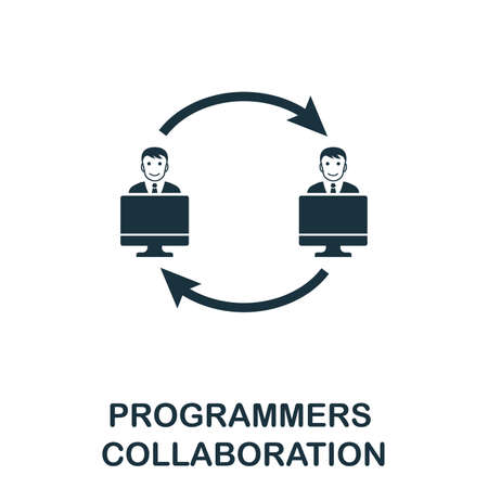 Programmers Collaboration icon. Creative element design from programmer icons collection. Pixel perfect Programmers Collaboration icon for web design, apps, software, print usage.