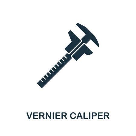 Vernier Caliper icon illustration.