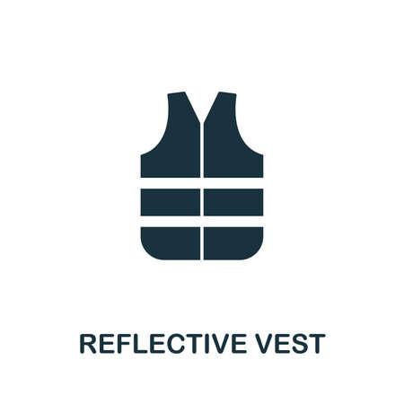 Reflective Vest icon illustration.