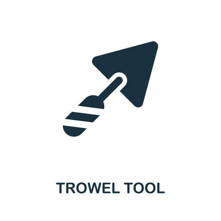 Trowel Tool icon illustration. Creative sign from construction tools icons collection. Filled flat Trowel Tool icon for computer and mobile. Stock Photo