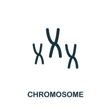Chromosome vector icon illustration. Creative sign from biotechnology icons collection. Filled flat Chromosome icon for computer and mobile.