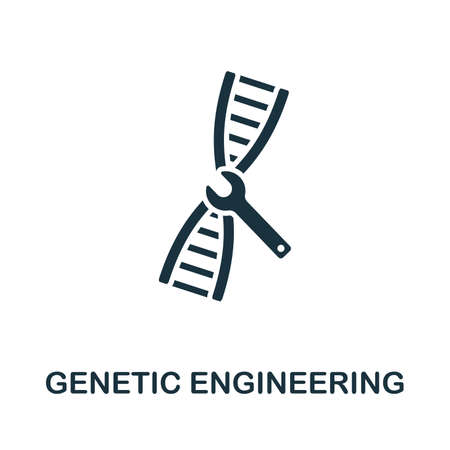 Genetic Engineering vector icon symbol. Creative sign from biotechnology icons collection. Filled flat Genetic Engineering icon for computer and mobile