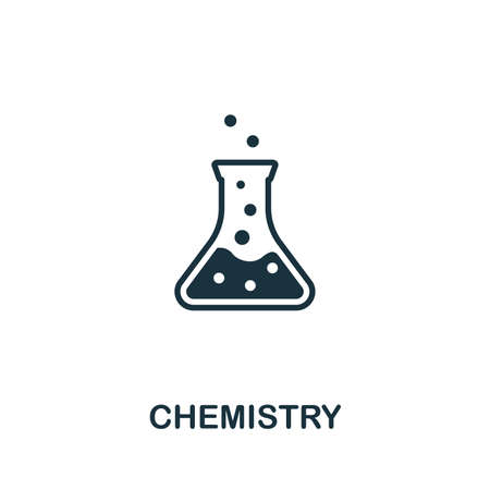 Symbole d'icône de vecteur de chimie. Signe créatif de la collection d'icônes de biotechnologie. Icône de chimie plate remplie pour ordinateur et mobile