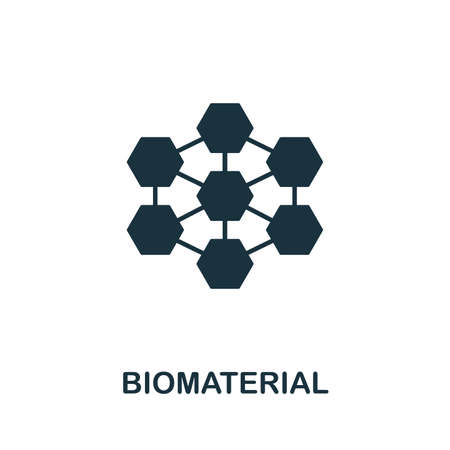 Biomaterial vector icon illustration. Creative sign from biotechnology icons collection. Filled flat Biomaterial icon for computer and mobile.