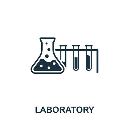 Laboratory vector icon illustration. Creative sign from biotechnology icons collection. Filled flat Laboratory icon for computer and mobile.