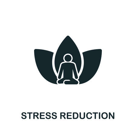 Stress Reduction icon illustration. Creative sign from mindfulness icons collection. Filled flat Stress Reduction icon for computer and mobile.