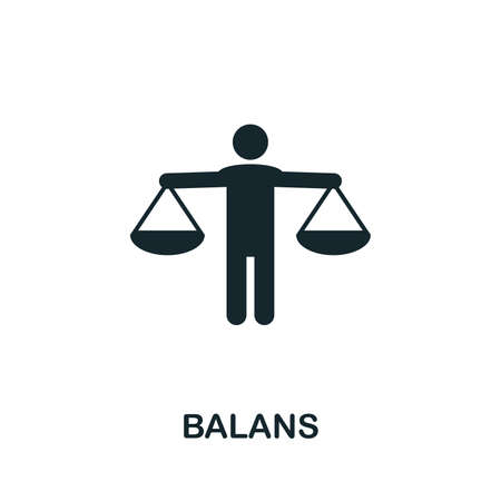 Balans icon illustration. Creative sign from mindfulness icons collection. Filled flat Balans icon for computer and mobile. Stockfoto