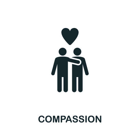 Compassion  icon illustration. Creative sign from mindfulness icons collection. Filled flat Compassion icon for computer and mobile. 写真素材