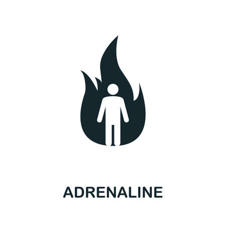 Adrenaline icon illustration. Creative sign from mindfulness icons collection. Filled flat Adrenaline icon for computer and mobile. 版權商用圖片