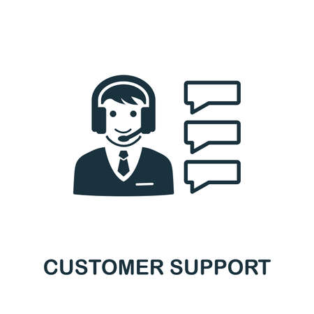 Customer Support vector icon illustration. Creative sign from icons collection. Filled flat Customer Support icon for computer and mobile.