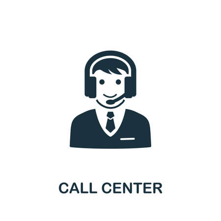 Call Center vector icon illustration. Creative sign from icons collection. Filled flat Call Center icon for computer and mobile.