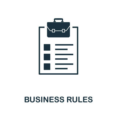Business Rules vector icon illustration. Creative sign from icons collection. Filled flat Business Rules icon for computer and mobile.