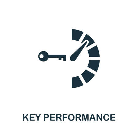 Key Performance vector icon illustration. Creative sign from icons collection. Filled flat Key Performance icon for computer and mobile.