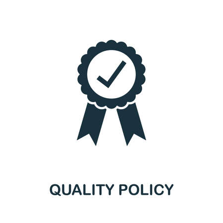 Quality Policy vector icon illustration. Creative sign from quality control icons collection. Vetores