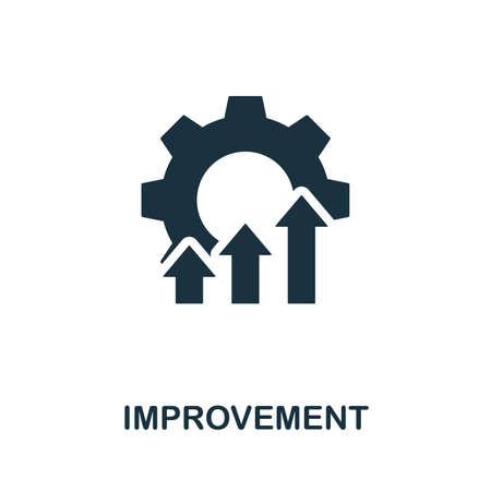 Illustration d'icône de vecteur d'amélioration. Signe créatif de la collection d'icônes de contrôle qualité. Icône d'amélioration plate remplie pour ordinateur et mobile. Vecteurs