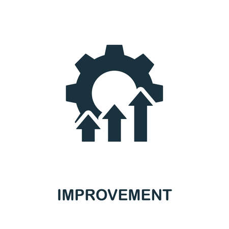 Improvement vector icon illustration. Creative sign from quality control icons collection. Filled flat Improvement icon for computer and mobile.