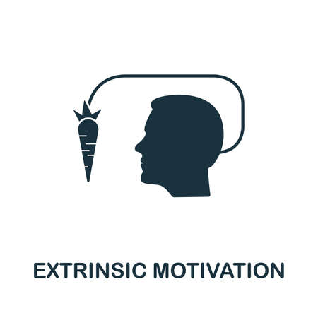 Extrinsic Motivation vector icon illustration. Creative sign from gamification icons collection. Filled flat Extrinsic Motivation icon for computer and mobile. Symbol vector graphics.