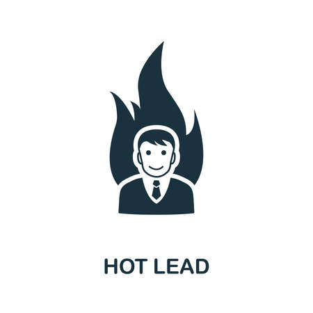 Hot Lead vector icon illustration. Creative sign from crm icons collection. Filled flat Hot Lead icon for computer and mobile. Symbol, logo vector graphics.
