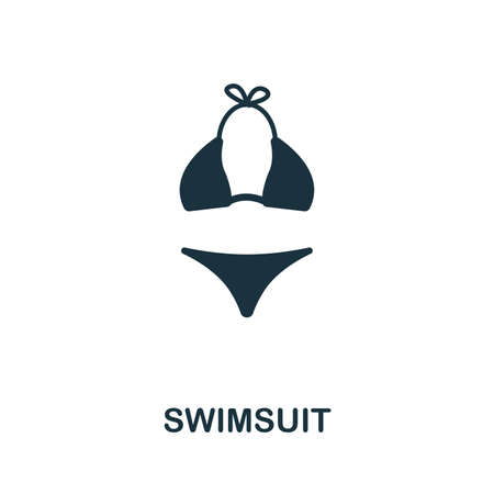 Swimsuit vector icon illustration. Creative sign from icons collection. Filled flat Swimsuit icon for computer and mobile. Symbol, logo vector graphics.
