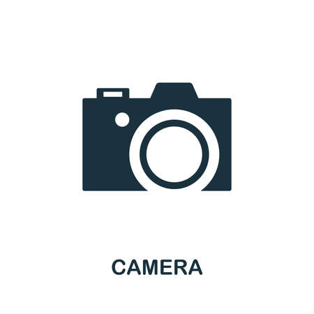 Camera vector icon illustration. Creative sign from icons collection. Filled flat Camera icon for computer and mobile. Symbol, logo vector graphics. Illustration