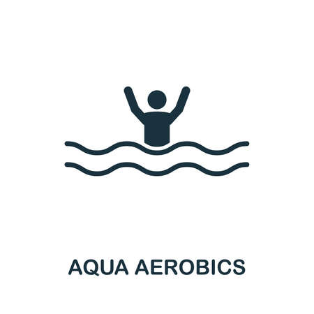 Aqua Aerobics vector icon illustration. Creative sign from icons collection. Filled flat Aqua Aerobics icon for computer and mobile. Symbol, logo vector graphics.