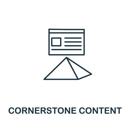 Cornerstone Content outline icon. Thin line concept element from content icons collection. Creative Cornerstone Content icon for mobile apps and web usage.