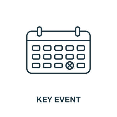 Key Event outline icon. Thin line concept element from business management icons collection. Creative Key Event icon for mobile apps and web usage.