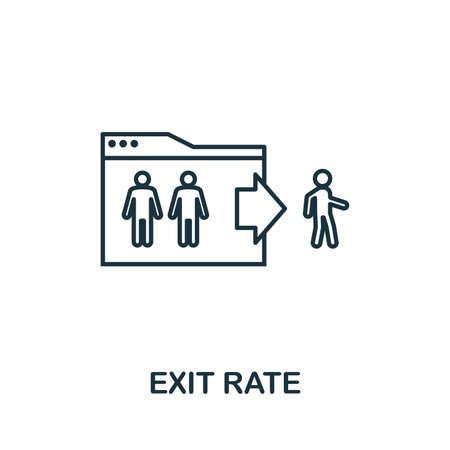 Exit Rate outline icon. Thin line concept element from content icons collection. Creative Exit Rate icon for mobile apps and web usage.